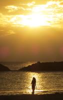 Hawaii Vacation Sunset Silhouette