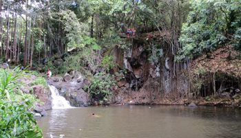 Cliff Jumpers at Kapena Falls