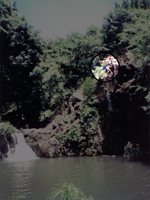 My Brother Jumping Off the Rock at Kapena Falls