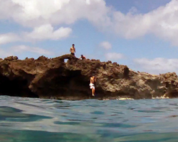 Rock Jumping at Sharks Cove Hawaii