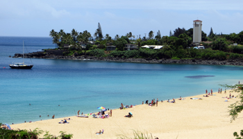 Waimea Bay in Summer