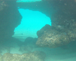 Underwater Tunnel Through the Rock at Waimea Bay
