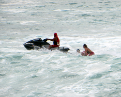 Rescue at Waimea Bay