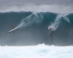 Big Surf at Waimea Bay