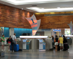 Hawaiian Airlines Automated Check-in Machines at Honolulu International Airport