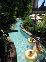 Tubing on the Waikolohe Stream at Disney Aulani Resort
