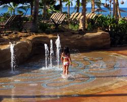 Fountain Fun at Disney Aulani Resort