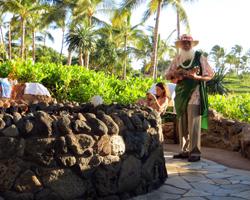 Sunset Storytelling by Uncle at Disney Aulani Resort