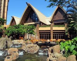 Thatched Hut Design of Disney Aulani Resort