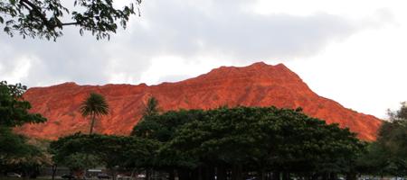 Diamond Head Crater at Sunset