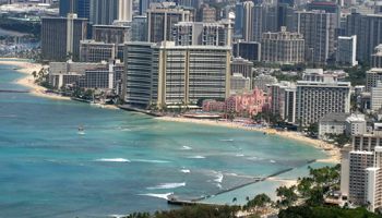 Waikiki View from Diamond Head Crater