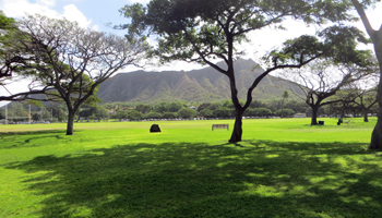 Kapiolani Park and Diamond Head