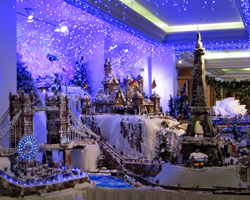 London, Germany and France in the Sheraton Princess Kaiulani Hotel's Gingerbread Village