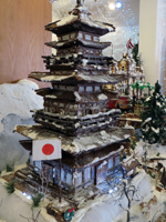 Gingerbread Village Japanese Pagoda