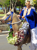 Pa'u Princess at Aloha Festivals Parade