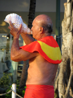 Torch Lighting Ceremony & Free Hula Show Conch Shell