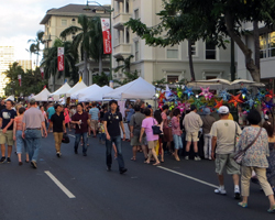 Crowds and Vendors at the Pan Pacific Festival