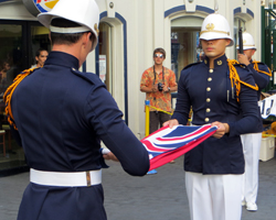 Folding the Flag in the King's Guard Changing Ceremony