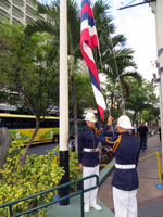 Lowering the Flag at King's Guard Changing Ceremony