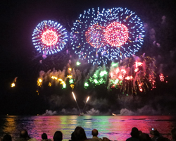 A Fireworks Show Ends the Honolulu Festival