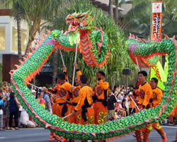 Dragon Dancers in the Honolulu Festival Parade