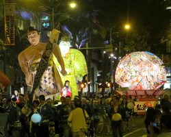 Lighted Floats in the Honolulu Festival Parade