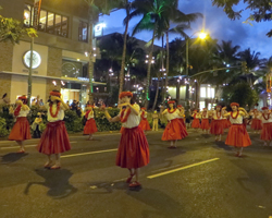 Cultural Performance During the Honolulu Festival Parade