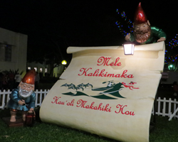 Outdoor Decorations at Honolulu City Lights