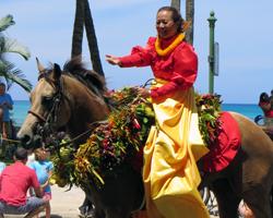 Kamehameha Day Parade Pa'u Queen