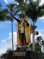 King Kamehameha Statue in Hilo (Big Island of Hawaii)