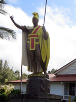 Original Salvaged King Kamehameha Statue in Kapaau (Big Island of Hawaii)