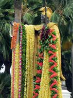 King Kamehameha Statue on Kamehameha Day in Honolulu