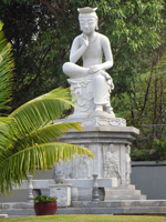 Maitreya Statue Replica at Mu-Ryang-Sa Buddhist Temple Hawaii
