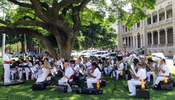 Royal Hawaiian Band Performance at Iolani Palace