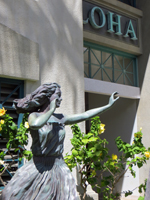Hula Statue: A Reminder of Boat Days at Aloha Tower