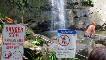 Manoa Falls Signs
