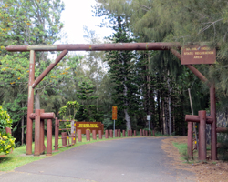 Waahila Ridge State Park Entrance