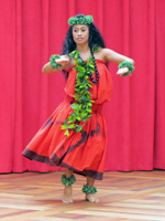 Honolulu Entertainment: Hula Kahiko During Free Hula Show at Ala Moana Shopping Center