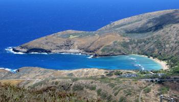 View of Hanauma Bay from Koko Crater