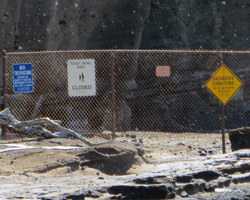 Barricades Prevent Access to the Toilet Bowl at Hanauma Bay Hawaii