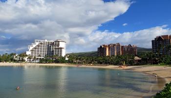 Ko Olina Resorts Reflected in Ko Olina Lagoons