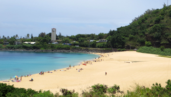 North Shore Oahu (Waimea Bay) in the Summer