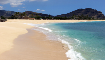 Maili Beach on West Shore Oahu