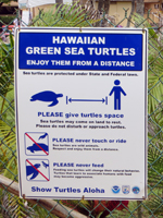 Posted Warning Sign at West Shore Oahu Beach