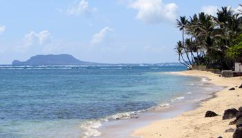 Roadside East Shore Oahu Beach in Kaaawa