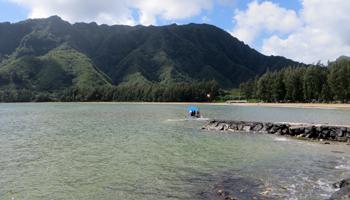 Kahana Bay Beach Park, East Shore Oahu
