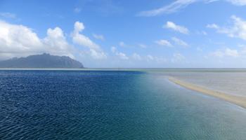 Kaneohe Bay Sandbar on East Shore Oahu