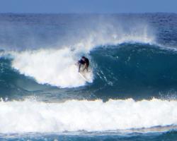 Surfing in Hawaii Along the Waianae Coast (West Shore Oahu)