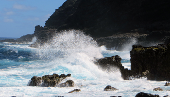 Dangerous Coastal Waters Below Makapuu Lighthouse