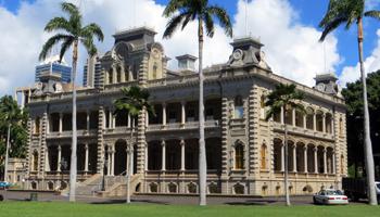 Iolani Palace in Honolulu, HI.